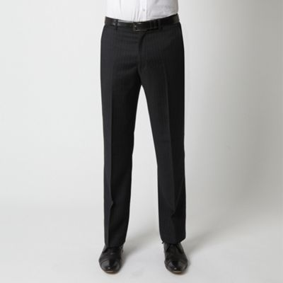 Charcoal Pindot Stripe Suit Trouser