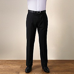 Jeff Banks - Black plain weave travel plus regular fit trouser