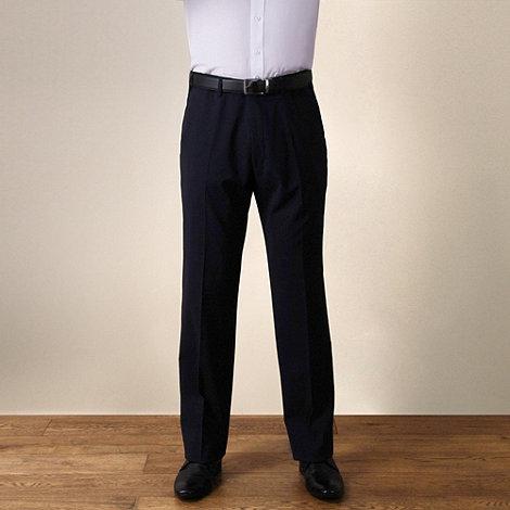 Jeff Banks - Navy plain weave travel plus regular fit trouser