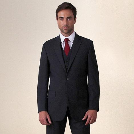 Jeff Banks - Charcoal plain weave travel plus regular fit 2 button jacket