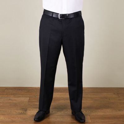 Centaur Big & Tall Big & tall black narrow stripe regular fit trouser - . -
