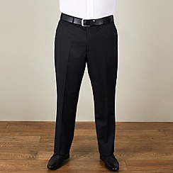 Centaur Big & Tall - Big & tall black narrow stripe regular fit trouser