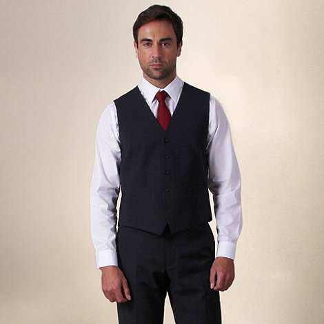Jeff Banks - Charcoal plain travel plus waistcoat