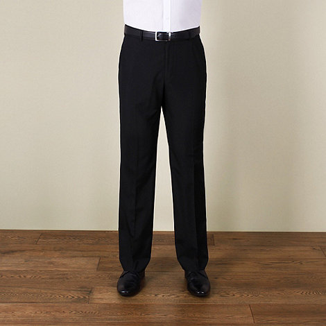 Karl Jackson - Black plain weave regular fit trouser
