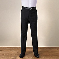 Karl Jackson - Charcoal plain weave regular fit trouser