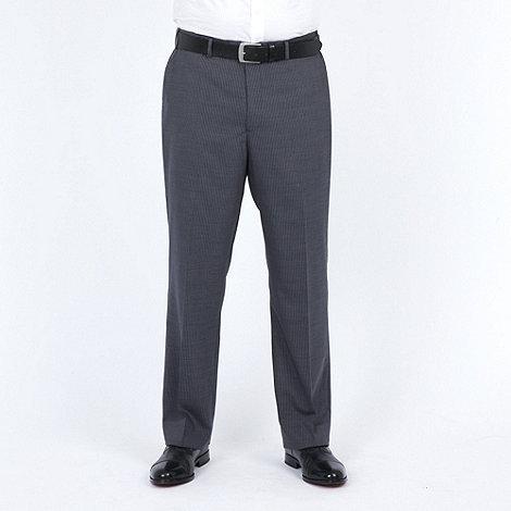 Centaur Big & Tall - Grey stripe washable suit trouser