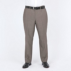 Centaur Big & Tall - Taupe mohair look washable suit trouser