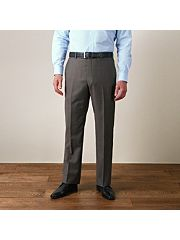 Taupe sharkskin mixer trousers