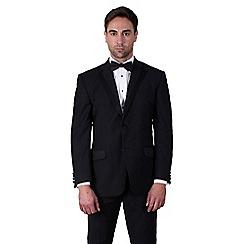 Jeff Banks - Black plain weave regular fit 2 button dresswear jacket