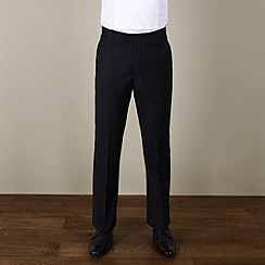 Jeff Banks - Black plain weave regular fit dresswear trouser