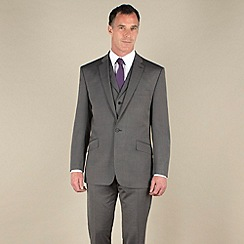 J by Jasper Conran - Silver grey semi-plain tailored fit 2 button 3 piece suit