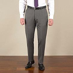 J by Jasper Conran - Silver grey semi-plain tailored fit trouser