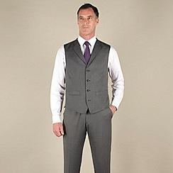 J by Jasper Conran - Silver grey semi-plain tailored fit waistcoat