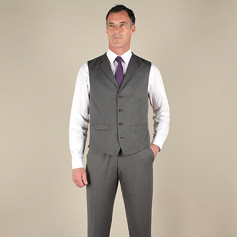 J by Jasper Conran - Silver grey semi-plain tailored fit waistcoat