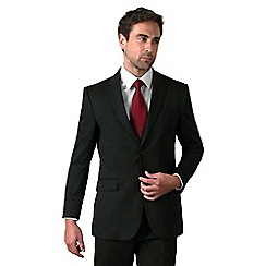 Karl Jackson - Black stripe regular fit 2 button suit