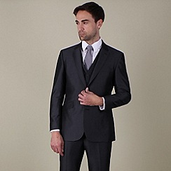 Karl Jackson - Grey stripe regular fit 2 button suit