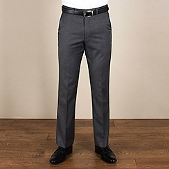 Karl Jackson - Charcoal herringbone regular fit trouser