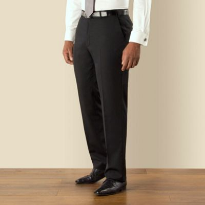 Centaur Big & Tall Big & tall black twill regular fit trouser - . -