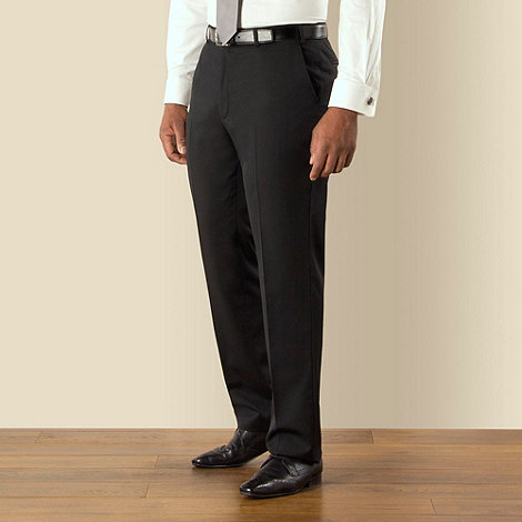 Centaur Big & Tall - Big & tall black twill regular fit trouser