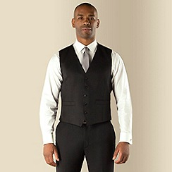 Centaur Big & Tall - Black twill 5 button washable suit waistcoat