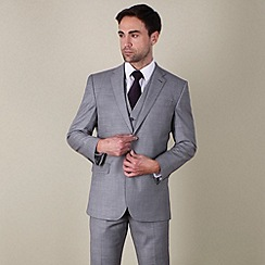 Jeff Banks - Grey twill regular fit 2 button suit