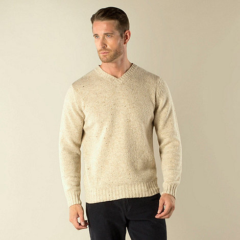 Racing Green - V Neck Nep Knit