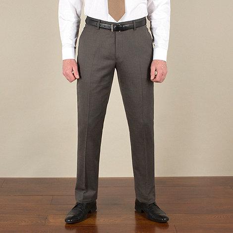 J by Jasper Conran - Bronze semi-plain tailored fit trouser