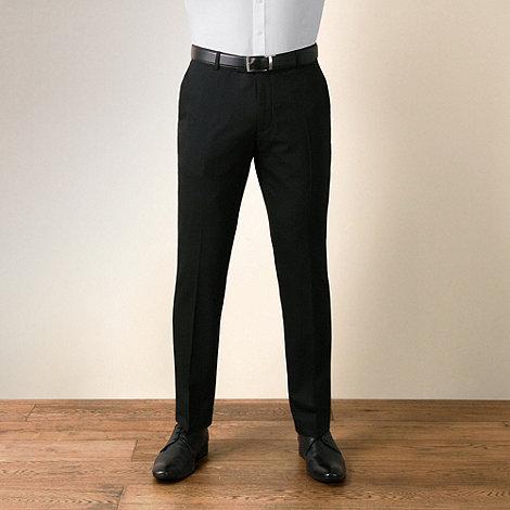 J by Jasper Conran - Black semi-plain tailored fit trouser