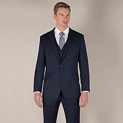 Stvdio by Jeff Banks - Blue twill tailored fit 2 button jacket