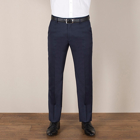 Stvdio by Jeff Banks - Blue twill tailored fit trouser