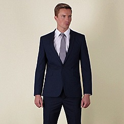 Red Herring - Blue semi-plain slim fit 2 button jacket