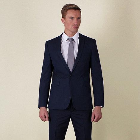 Red Herring - Blue semi-plain slim fit 2 button jacket