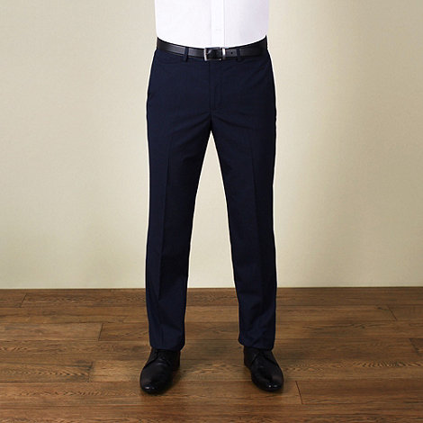 Red Herring - Blue semi-plain slim fit trouser