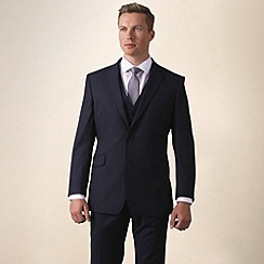 Ben Sherman - Navy twill slim fit 2 button jacket
