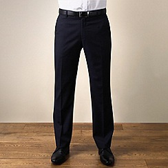 Ben Sherman - Navy twill slim fit trouser