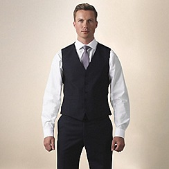 Ben Sherman - Navy twill slim fit waistcoat