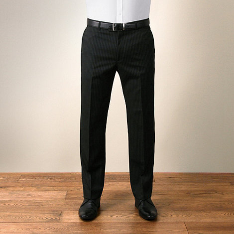 Ben Sherman - Black stripe tailored fit trouser