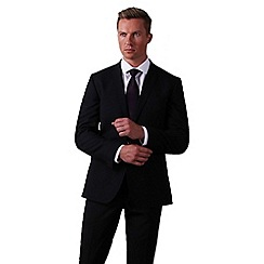 Ben Sherman - Black plain weave slim fit 1 button suit
