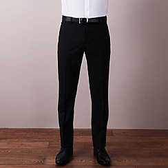Ben Sherman - Black plain weave slim fit trouser