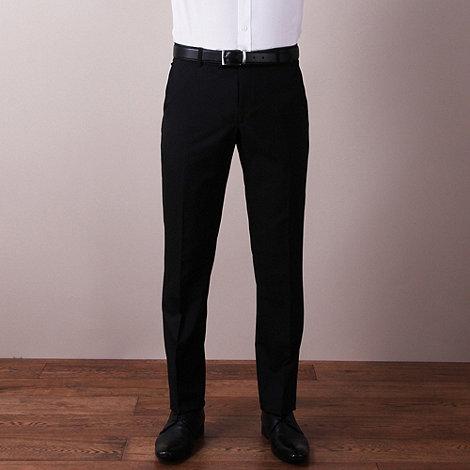 Ben Sherman - Black plain weave slim fit trouser