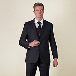 Ben Sherman - Charcoal semi-plain slim fit 2 button jacket