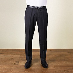 BEN SHERMAN - Charcoal semi-plain slim fit trouser