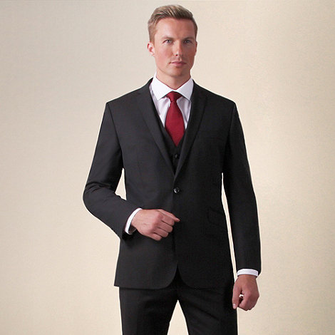 Ben Sherman - Brown two-tone twill slim fit 2 button jacket