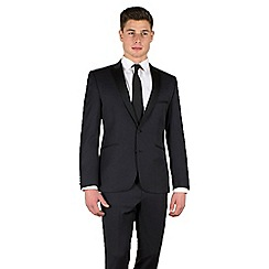 Ben Sherman - Navy twill slim camden fit satin lapel 2 button dresswear suit