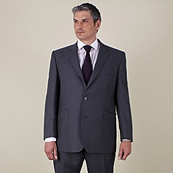 Centaur Big & Tall - Big & tall grey flannel look regular fit 2 button jacket