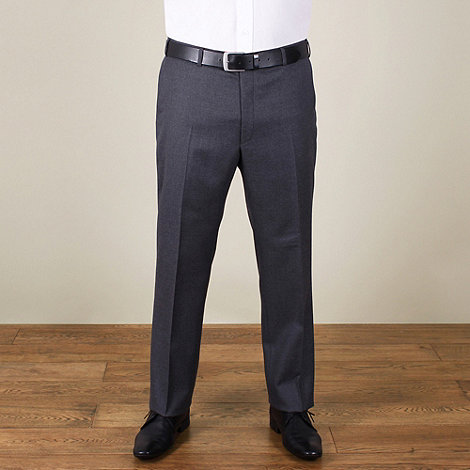 Centaur Big & Tall - Big & tall grey flannel look regular fit trouser
