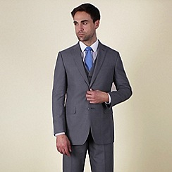 Karl Jackson - Grey plain weave regular fit 2 button jacket