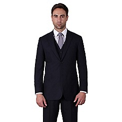 Karl Jackson - Navy plain weave regular fit 2 button 3 piece suit