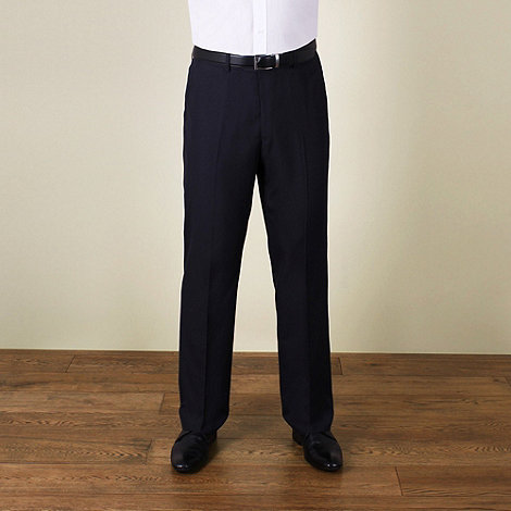 Karl Jackson - Navy plain weave regular fit trouser