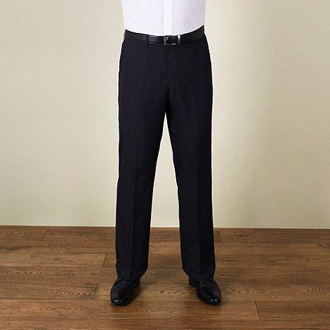 Karl Jackson - Navy plain weave regular fit trouser